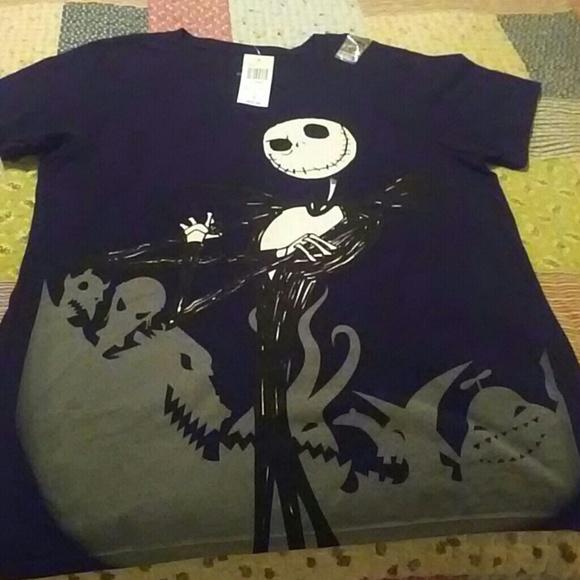 Disney Tops - Nightmare Before Christmas Jack & Sally Shirt NWT